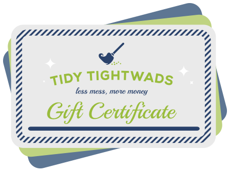 Gift Certificates from Tidy Tightwads